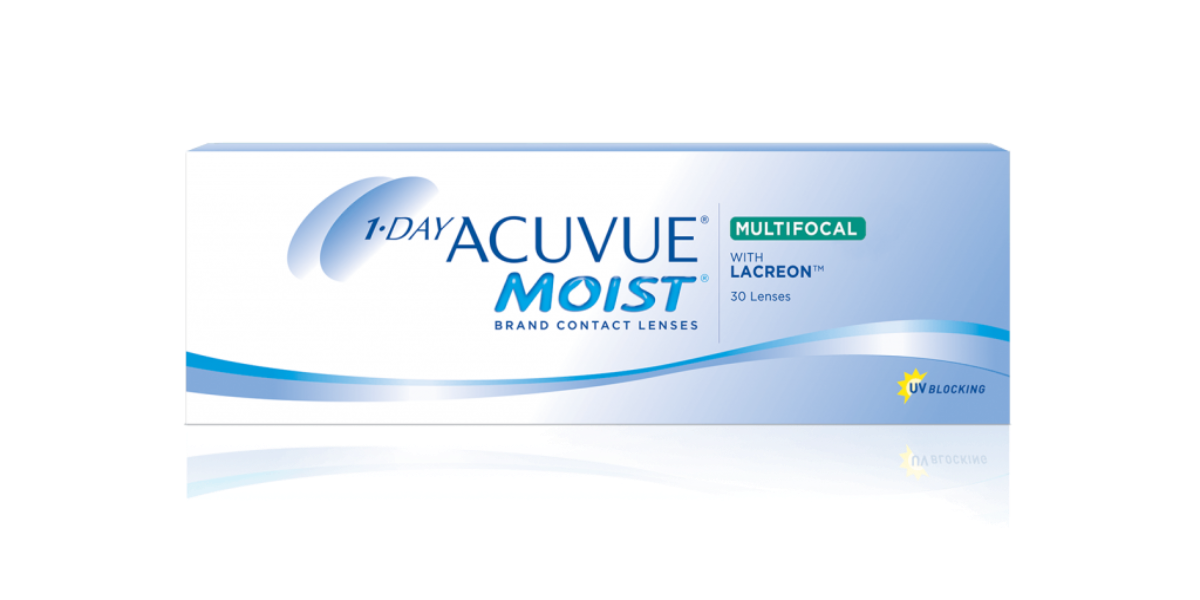 1 - DAY ACUVUE MOIST Brand MULTIFOCAL Contact Lenses - (30)