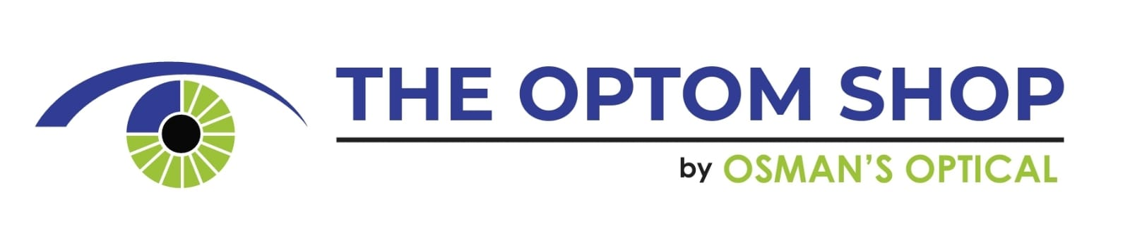 The Optom Shop by Osman's Optical. Contact Lenses Frames and Sunglasses Online Logo